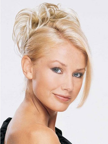 "6"" Blonde Heat Friendly Synthetic Hair Scrunchie Hair Wraps"