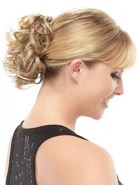 "5"" Blonde Heat Friendly Synthetic Hair Claw Clip Hair Wraps"