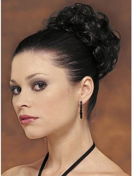 "4"" Black Heat Friendly Synthetic Hair Elastic Net Hair Wraps"