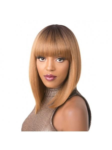 Premium Synthetic Fibers Blonde Bob Wig For Black