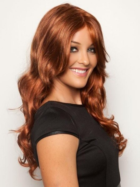 Red Lace Front Long Wavy Blonde Hair Wig