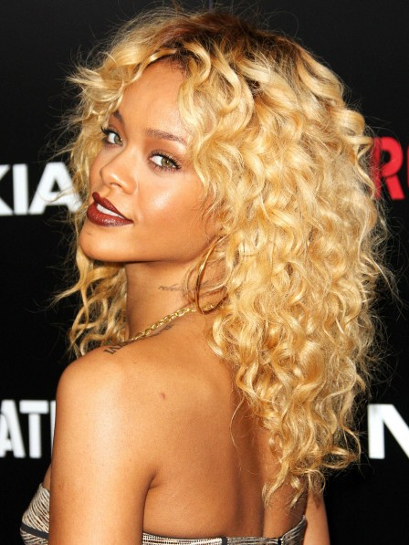 Rihanna's Most Iconic Blonde Curly Hair Wig For Black Women