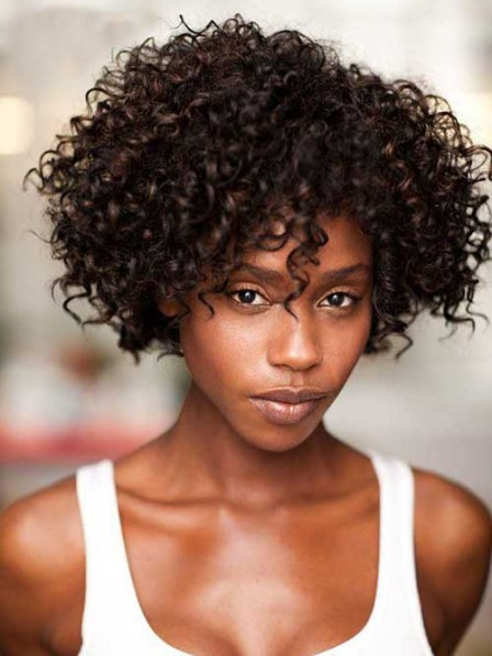 Short Curly Wig Capless For Black Women