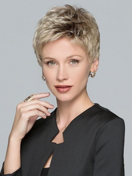 Short Pixie Cut Synthetic Lace Front Monofilament Wig