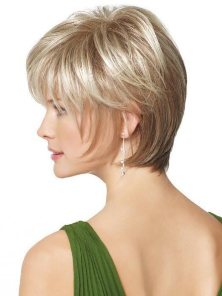 Short Straight Lace Front Wig with Natural Hairline