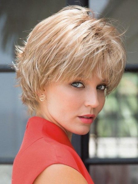 Short Wavy and Textured Synthetic Hair Wig