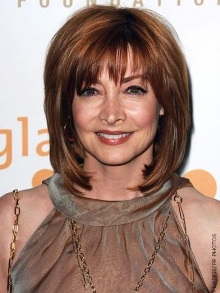 Shoulder Length Light Brown Synthetic Capless Hair Wig