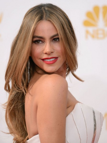 Sofia Vergara Long Lace Front Wavy Human Hair Wig With Middle Part Rewigs Com
