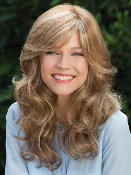 Soft Curvaceous Long Layers Wavy Lace Front Mono Top Wig