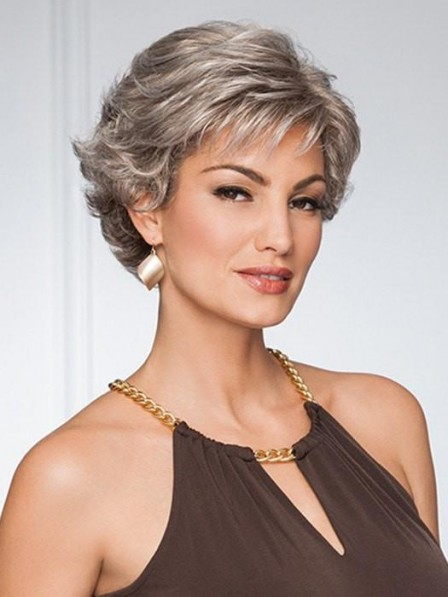 Soft Layers Short Grey Wig