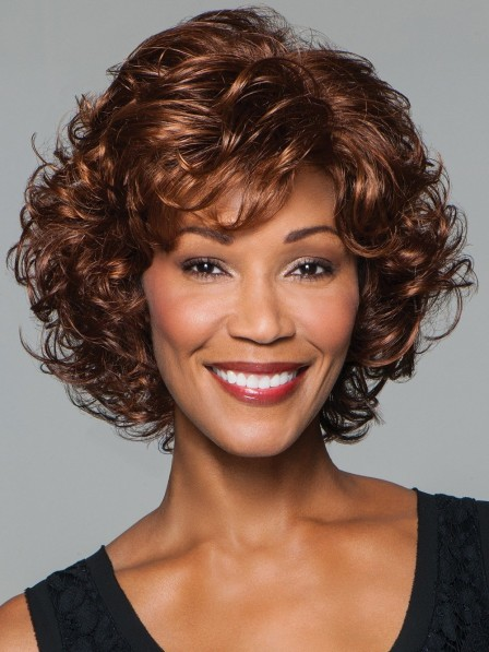 Softly Curled Layers Brown Women Wig