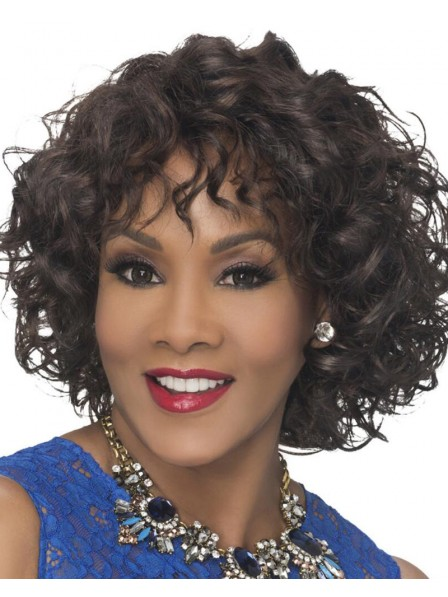 Stylish Mid-Length Bob Wig With Lush Layers Of Soft Loose Spiral Curls