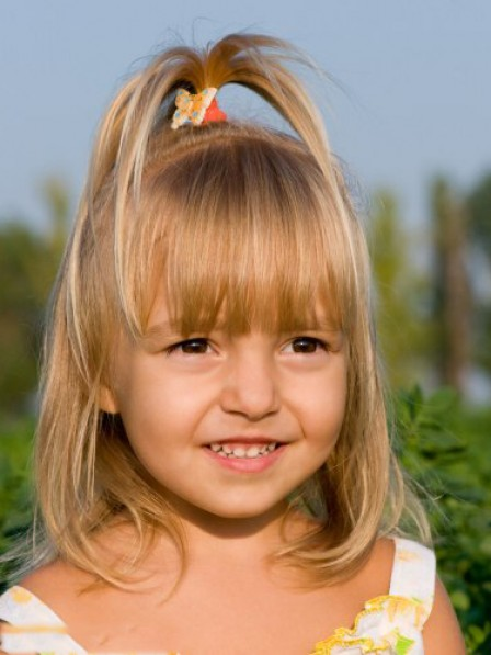 Sweet Blonde Bob Hairstyle For Little Girl Rewigs
