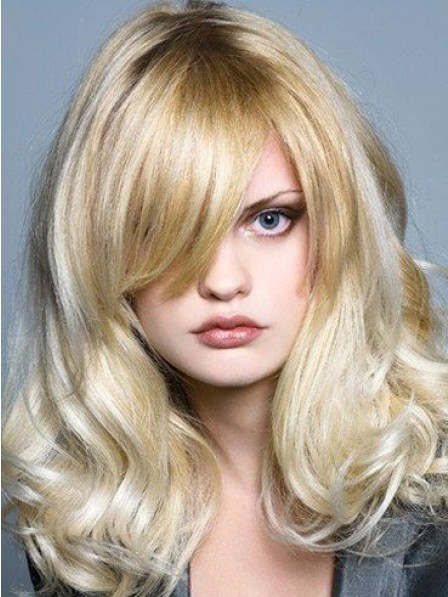 Wavy Monofilament Remy Human Hair Celebrity Wigs