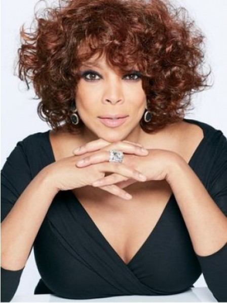 Wendy Williams Auburn Short Curly Synthetic