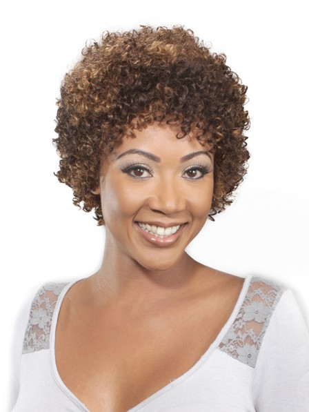 Women S 50 Years Old Curly Hairstyle Synthetic Wigs