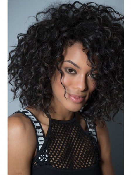 Women's small curly hairstyle capless wig for black women