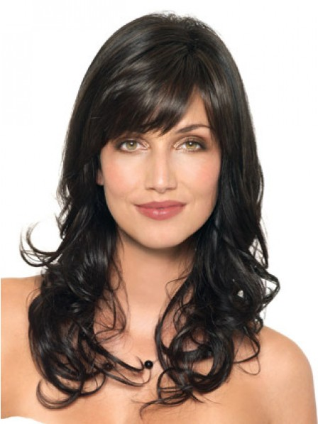 Long Wavy Capless Human Hair With Side Bangs