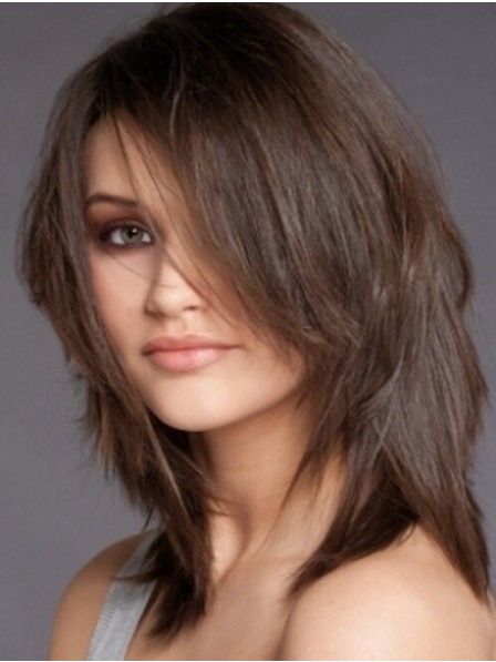 Layered Straight Lace Front Mono Top Wig