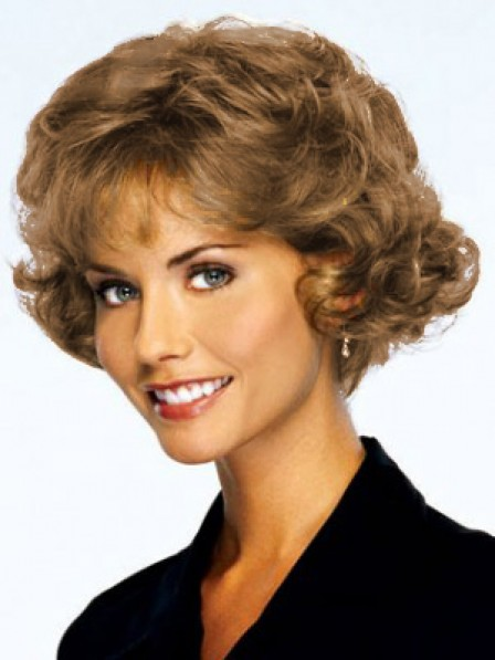 Short Wavy Synthetic Hair Capless Wig With Bangs