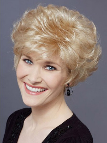 Synthetic Short Wavy Hair Wig With Bangs
