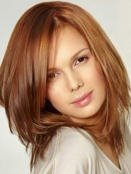 Straight Human Hair Lace Front Women Wig