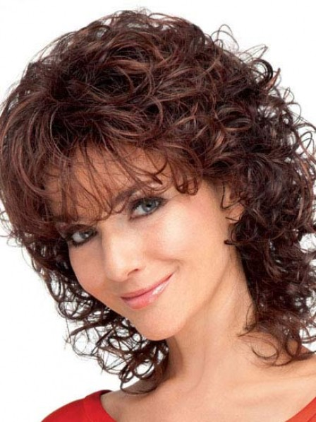 Synthetic Auburn Wavy Capless Hair Wig