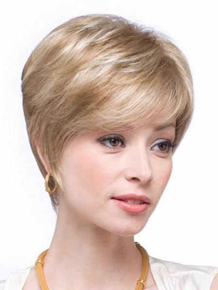Human Hair Boycuts Straight Capless Women Wig