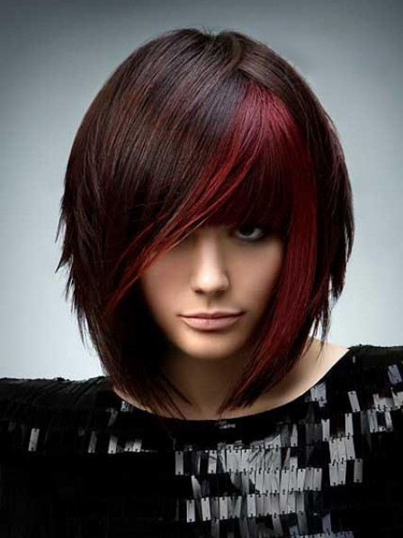 Synthetic Short Straight Capless Hair Wig With Bangs