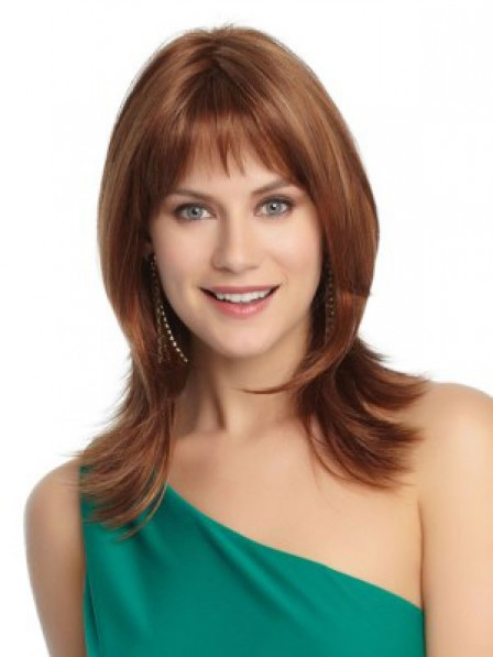 Boycuts Straight Lace Front Monofilament Human Hair Wig With Bangs