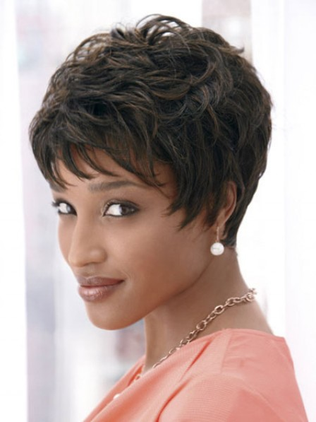 Short Curly Wig With Bangs