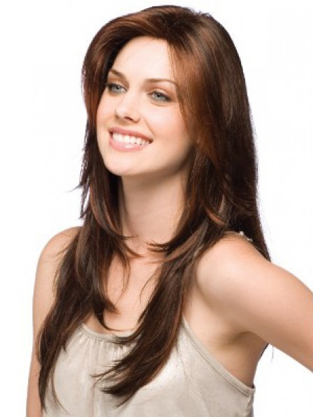 Human Hair Lace Front Long Straight Women Hair Wig