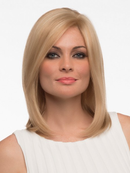 Shoulder Length Lace Front Mono Top Straight Hair Wig