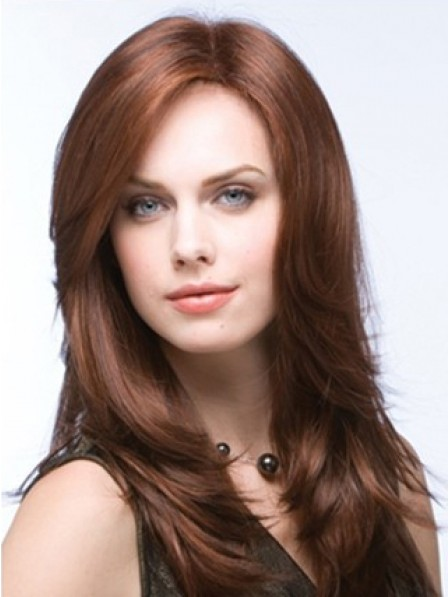 Long Layered Full Lace Straight Synthetic Hair Wig