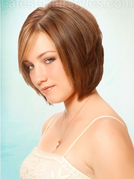 Layered Straight For Chin Length Lace Front Mono Top Hair Wig