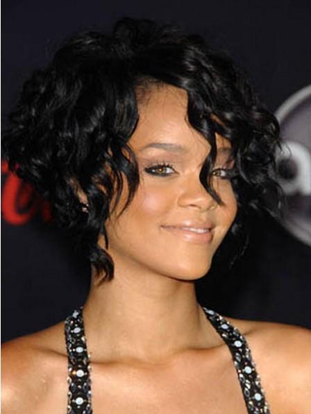 Lace Front Short Wavy 100% Human Hair Wig