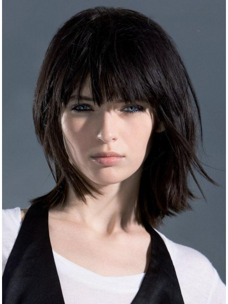 Women's Straight Capless Human Hair Wigs