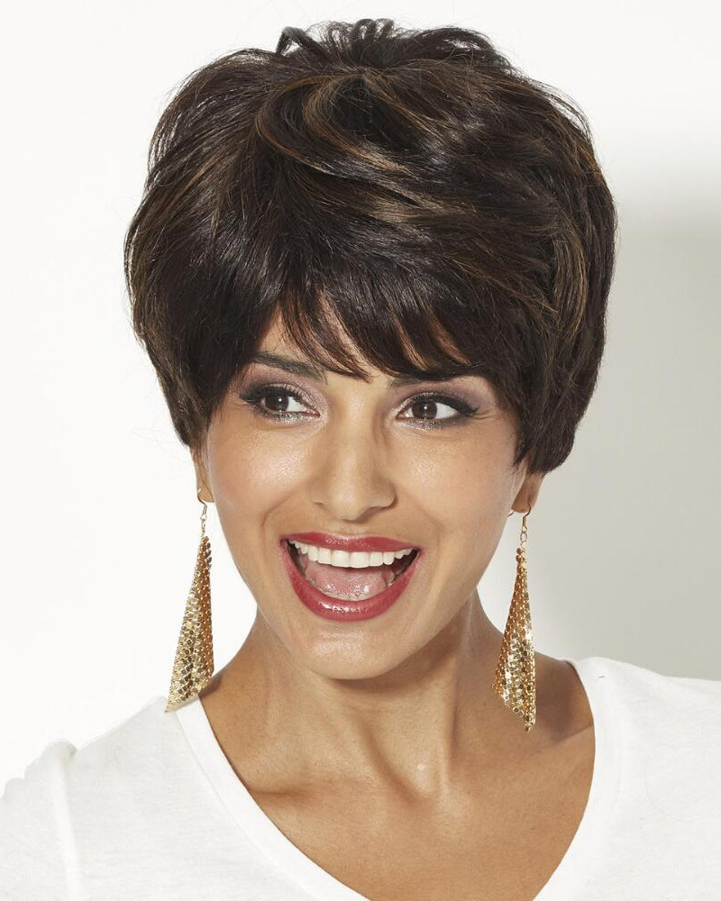 Human Hair Pixie Wigs With Short Wavy Layers And A Tapered Back Best Wigs Online Sale Rewigs Com