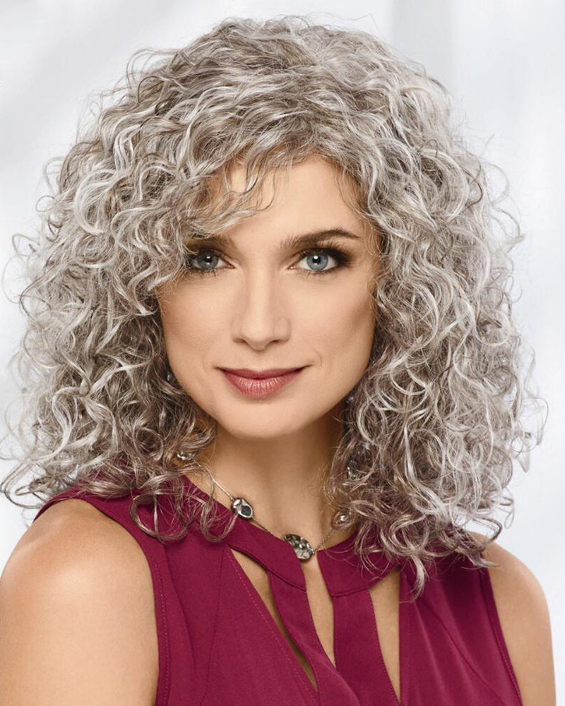 Volume Rich Curly Wigs With Shoulder Length Layers Of