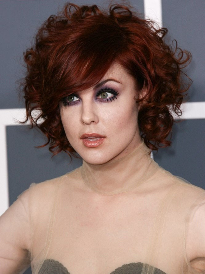 Anna Nalick Short Curly Red Hairwig Rewigs Com