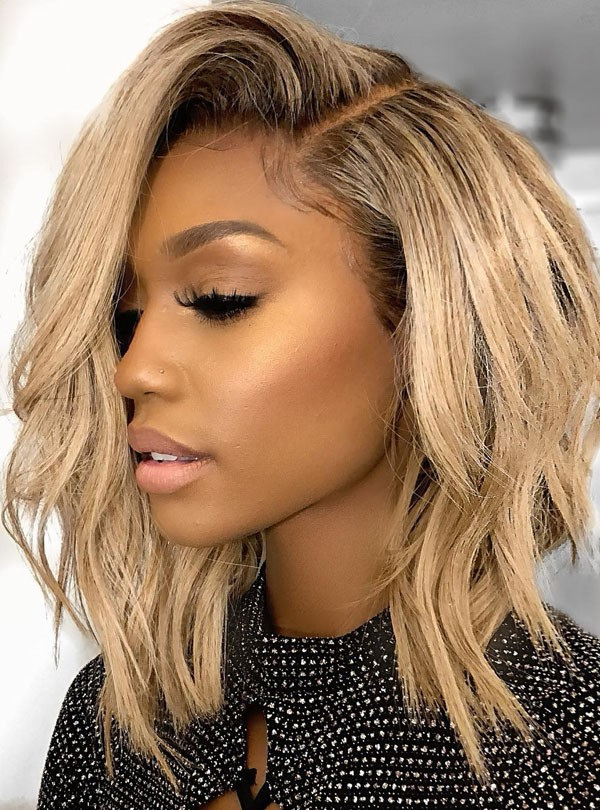 Anthony Sexy Wave Medium Blonde Bob Hair Wig Rewigs Com