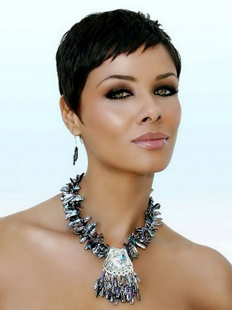 Black Women Short Pixie Cut Synthetic Hair Capless Wig Rewigs Com