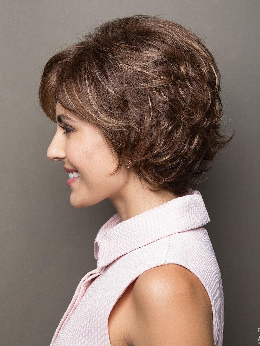 Fashion Synthetic Short Brown Wavy Hair Wigs, Best Wigs Online Sale - Rewigs.com