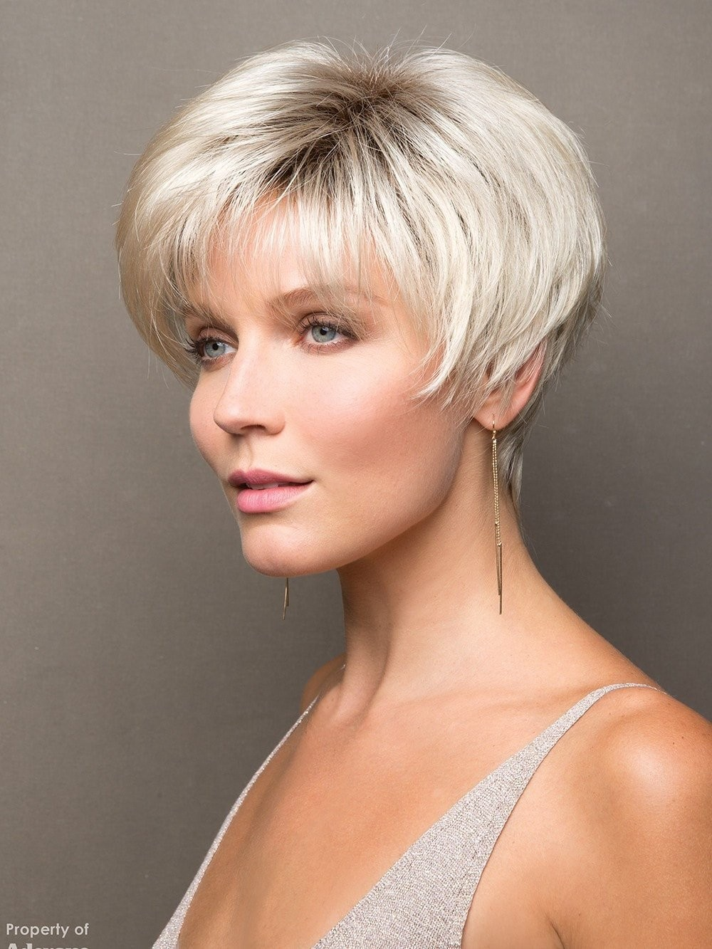 Grey Short Synthetic Hair Wigs for Women f1b6a737eb