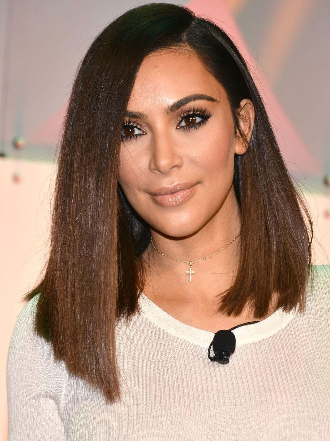 Kim Kardashian Long Straight Bob Style Wig Rewigs Com