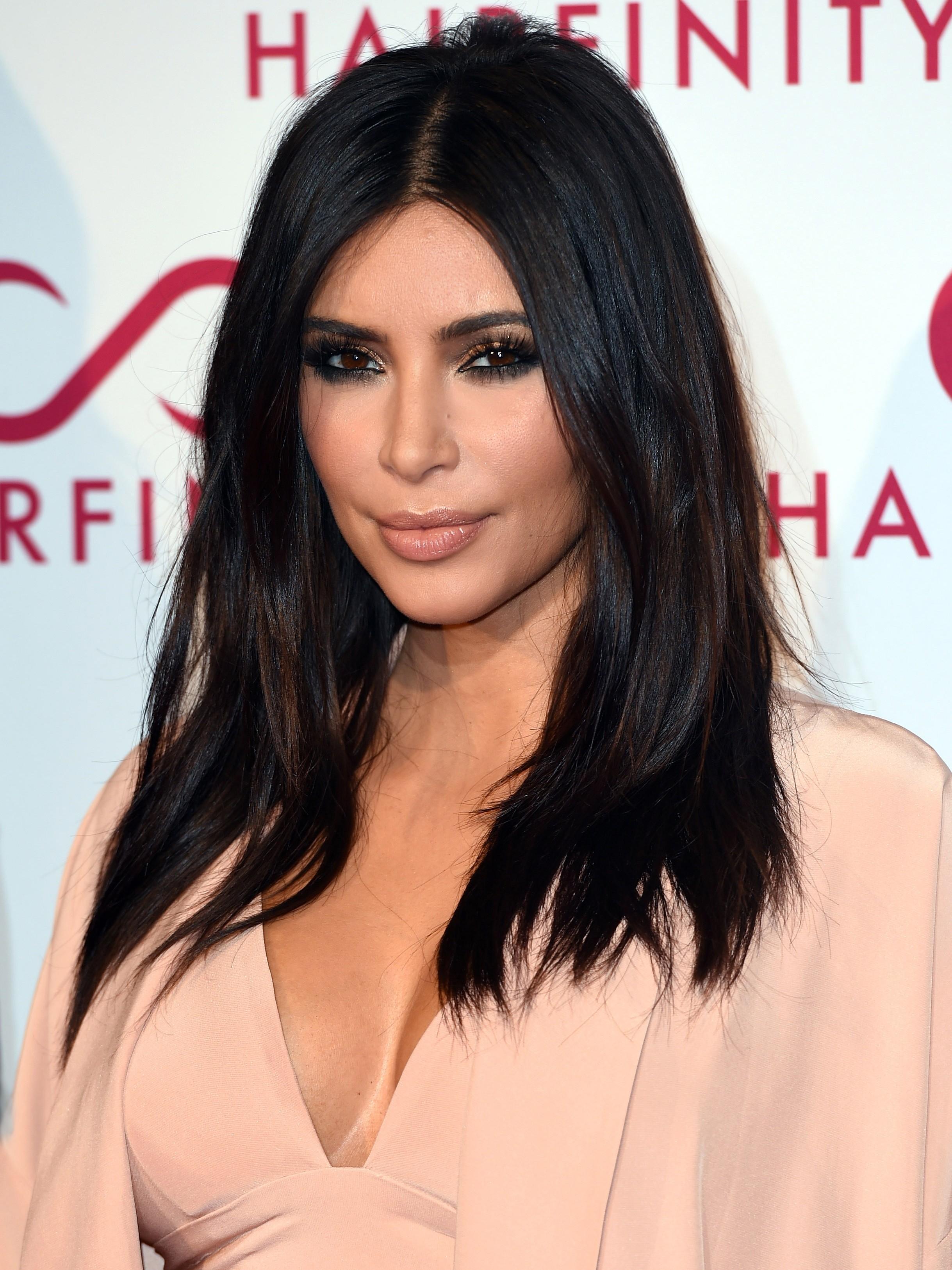 Kim Kardashian Natural Straight Black Human Hair Wig