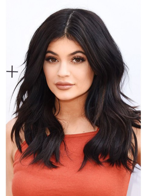 Kylie Inspired 14 Inches Shoulder Length Free Part Indian Remy Full Lace Human Hair Wig