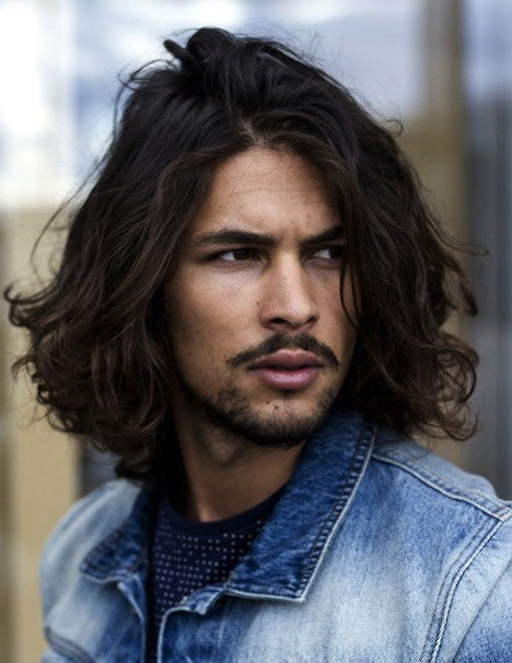 Long Haired Male Model Sexy Hairstyle Cool Guys