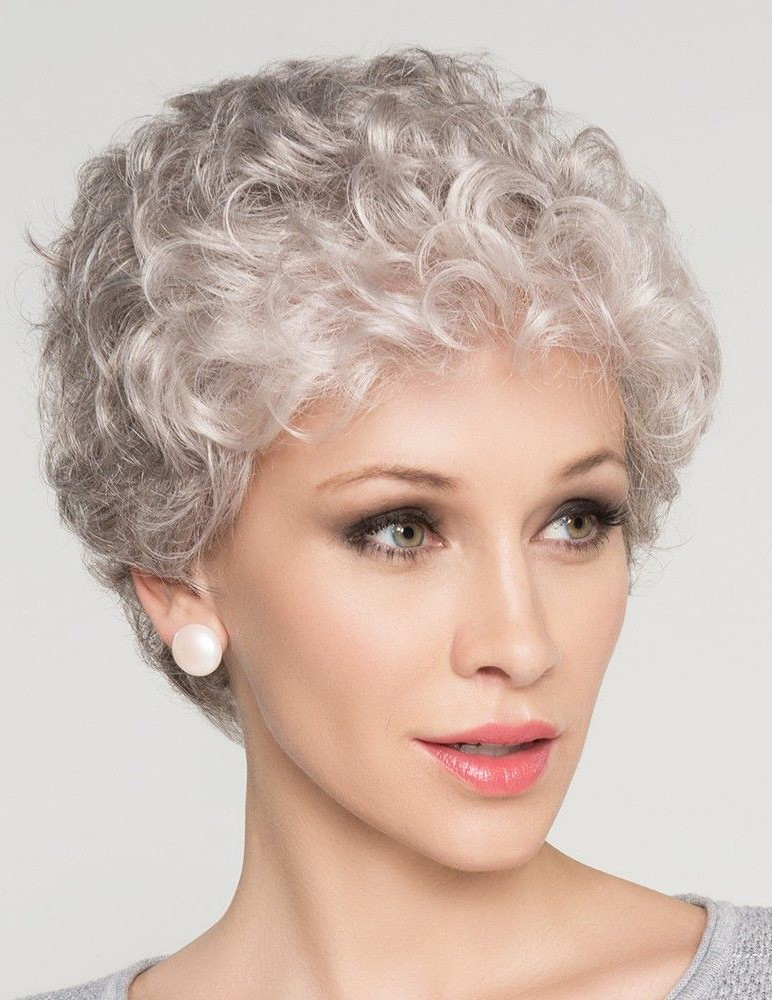 Natural Short Curly Grey Hair Wig For Older Women - Rewigs.com a445a2f572