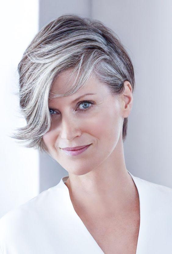 Celebrating women with fabulous short gray hairstyles |Women Short Grey Hairstyles